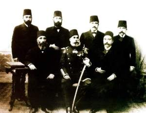 Miqdad Midhet Bedirxan, Istanbul, circa 1880 (standing, 3rd from left)