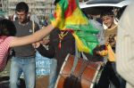 Dancing and signing and the kurdish colours  Photo property of Shiler Amini